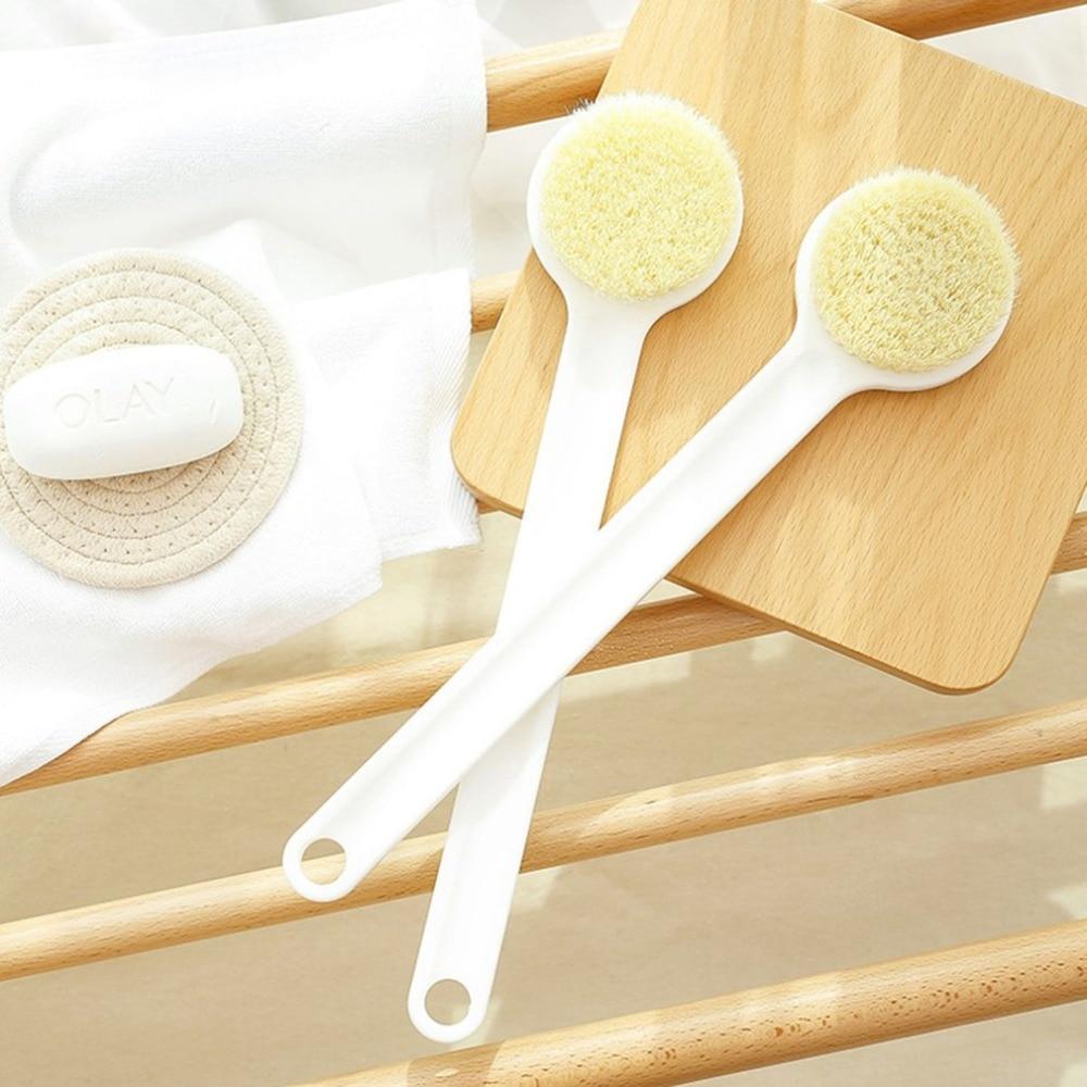 Anti-slip Long Handle Bathing Brush Body Back Soft Bristle E