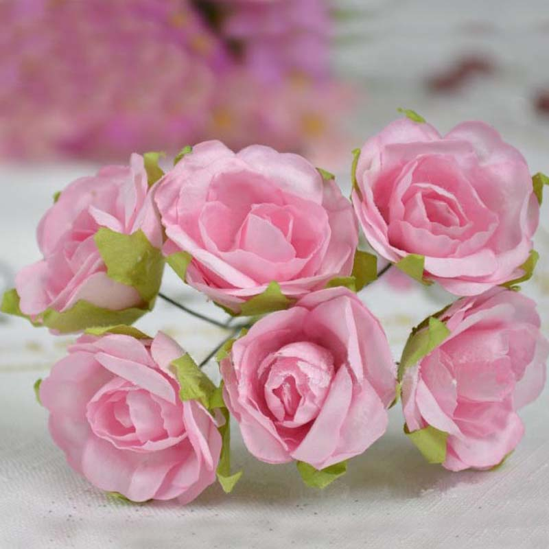 Aliexpress.com : Buy artificial large mulberry paper roses ...