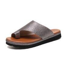 Women's Summer Open Toe Thong Sandals Casual Leisure PU Leather Flat Heel Slippers Sandals Sequins Beach Sandals Flip Flop okabashi womens maui thong flip flop sandals