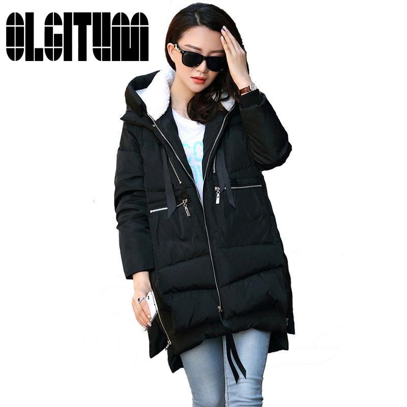 Hot selling 2017 New Aarrivals Fashional Women jacket Hoody Long Style Warm Winter Coat Women Plus