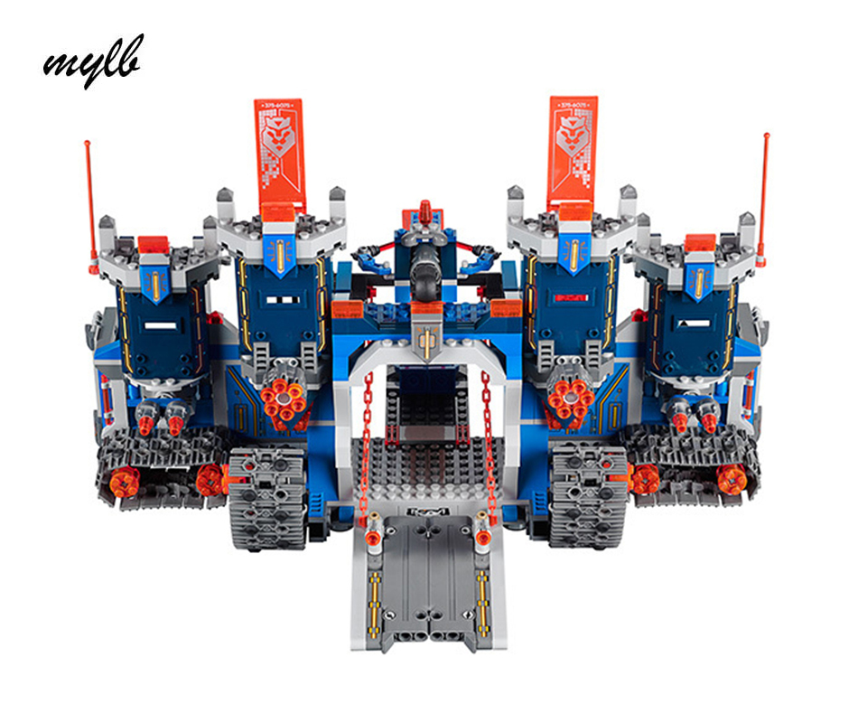 mylb Compatible Nexus Knights The Fortrex Castle Building Blocks Bricks Super Large Size Toys For Children dr tong single sale the lord of the rings medieval castle knights rome knights skeleton horses building bricks blocks toys gifts