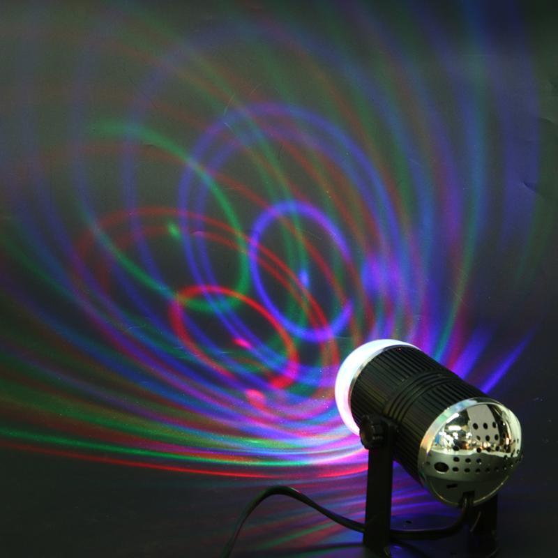 Mini RGB LED Stage Light Disco Starry Star Club Party Rotating Lamp Colorful Christmas Holiday Lighting EU/US Plug
