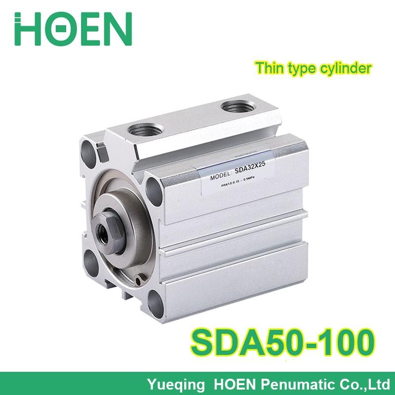 SDA50-100 SDA series Pneumatic Air Compact Cylinder 50mm Bore 100mm Stroke SDA50*100 Airtac Type