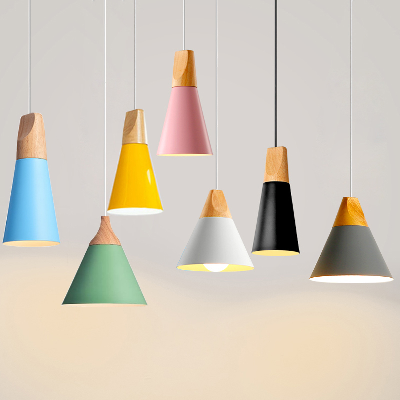 Nordic Pendant Lights For Home Lighting Modern Hanging Lamp Wooden - Indoor Lighting