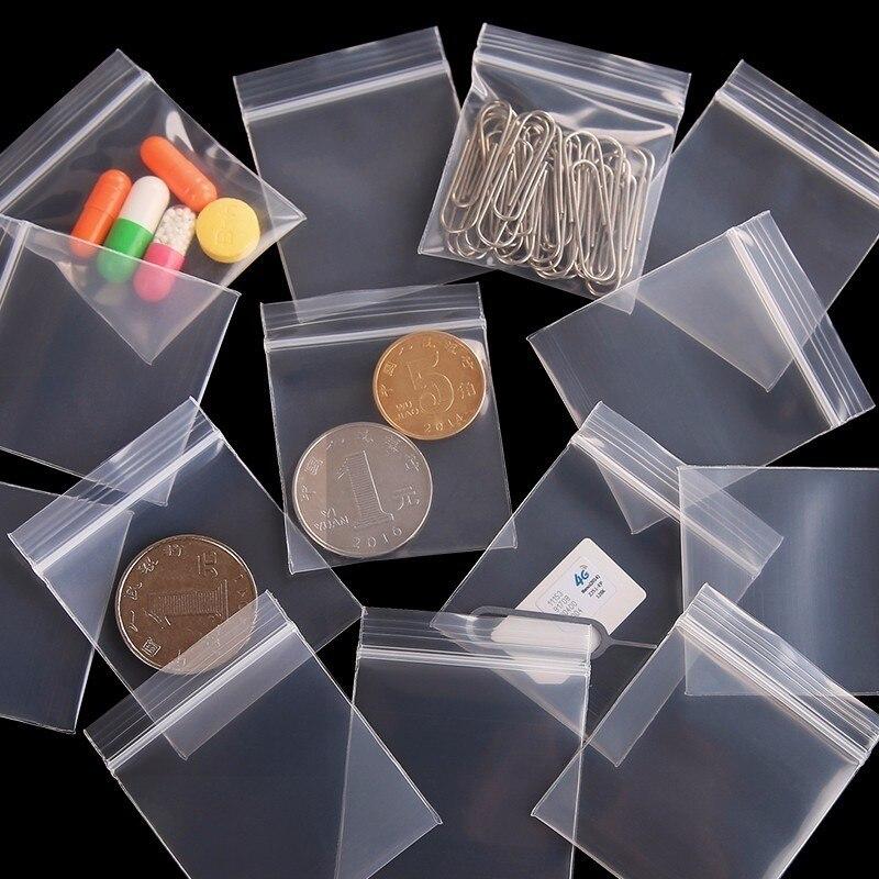 100pcs Mini Zip Plastic Bags Baggies Small Plastic Packaging Bags Plastic Zipper Bag Ziplock