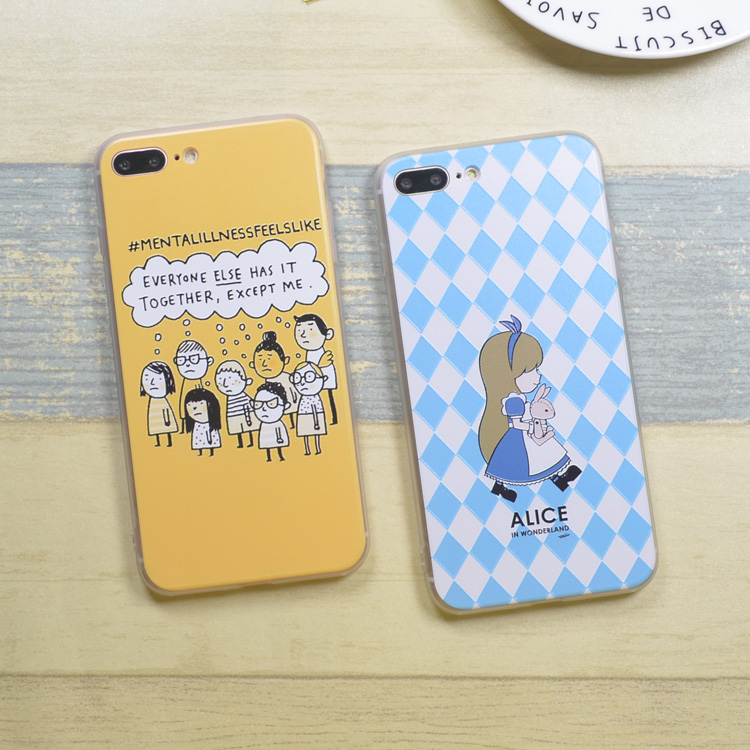 Simple Cute 3D Painted Soft Silicone Relief Phone Case, Cheap Smartphone Back Cover Shell For Iphone 6 Plus For Iphone 6S Plus