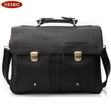 Men Business Handbag Genuine Leather Classic Black Briefcase Fit For 16 Inch Laptop Office Bag PR583820