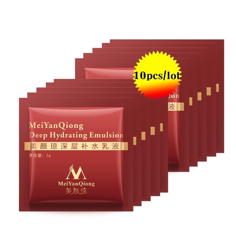 Hot! 10PCS Deep Hydrating Emulsion Hyaluronic Acid Moisturizing Face Cream Skin Care Whitening Anti Winkles Lift Firming