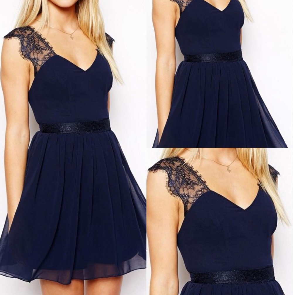 Online Get Cheap Navy and Champagne Bridesmaid Dress -Aliexpress ...