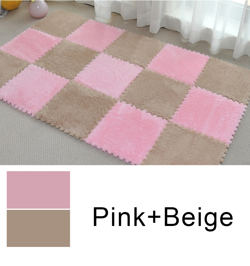 HTB1LfFpRjTpK1RjSZKPq6y3UpXah 10Pcs/Lot Children's Rug Soft Plush Baby Play Mat Toys Eva Foam Kids Rug Puzzle Children's Mat Interlock Floor Playmat 30*30 CM