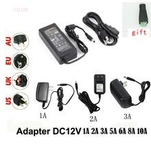 LED Alimentation Adaptateur 110V 220V power supply DC 12V 1A 2A 3A 5A 6A  8A 10A 5050 LED transformers 5730 2835 5050 LED lights