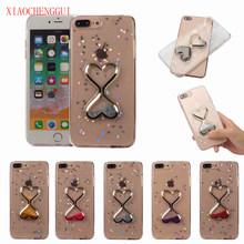 Hot Sale Cute Hourglass Kasus untuk iPhone X 6 6 S 7 Plus Case Tipis Silikon Payet Pasir Glitter untuk iPhone 6S 7 8 Case(China)