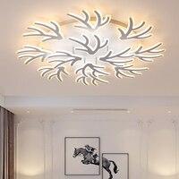 Acrylic Branch Art Modern Led ceiling Chandelier lights white color For Living Room Bedroom chandelier lighting lampadario led