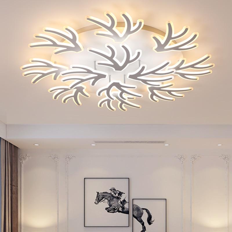 アクリル枝アート現代の Led シーリングシャンデリアライト白色のためのシャンデリア照明 lampadario led - Northern Lighting Store
