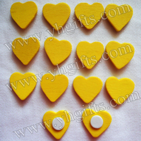 1000PCS/LOT.YELLOW heart sticker,1.8cm.Kids toys,scrapbooking kit,Early educational DIY.Kindergarten crafts.Classic toys.