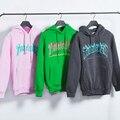 Newest men thrasher hoodie pink harajuku hip hop hoodies streetwear women bigbang trasher palace skateboard sweatshirt tracksuit
