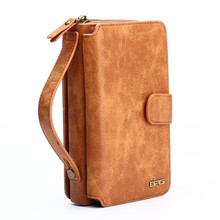 Multifunction Wallet phone Case For Samsung S4/5/6/7/s7 EDGE/NOTE4/5 for iphone 6s/6s plus/7/7 plus Zipper Purse Pouch pouch