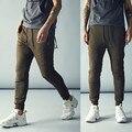 Новая Мода Байкер Бегунов Slim Fit Тощие Тренировочные Брюки Шаровары Мужчина Хип-Хоп Swag Одежда Одежда Мужчины Зеленый Kanye West
