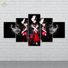 дешево!  Милые Японские Девушки Wall Art Холст Картины Плакаты и Принты Арт Принт Декоративные Плакат Картина