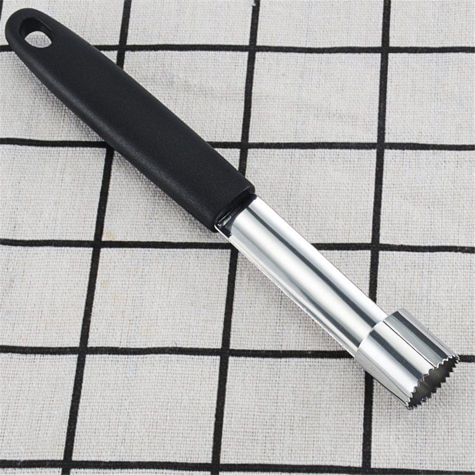 Hot Sale! Black Stainless Steel Fruit Apple Pear Corer remover Slicers Cutter Kitchen Tool high quality