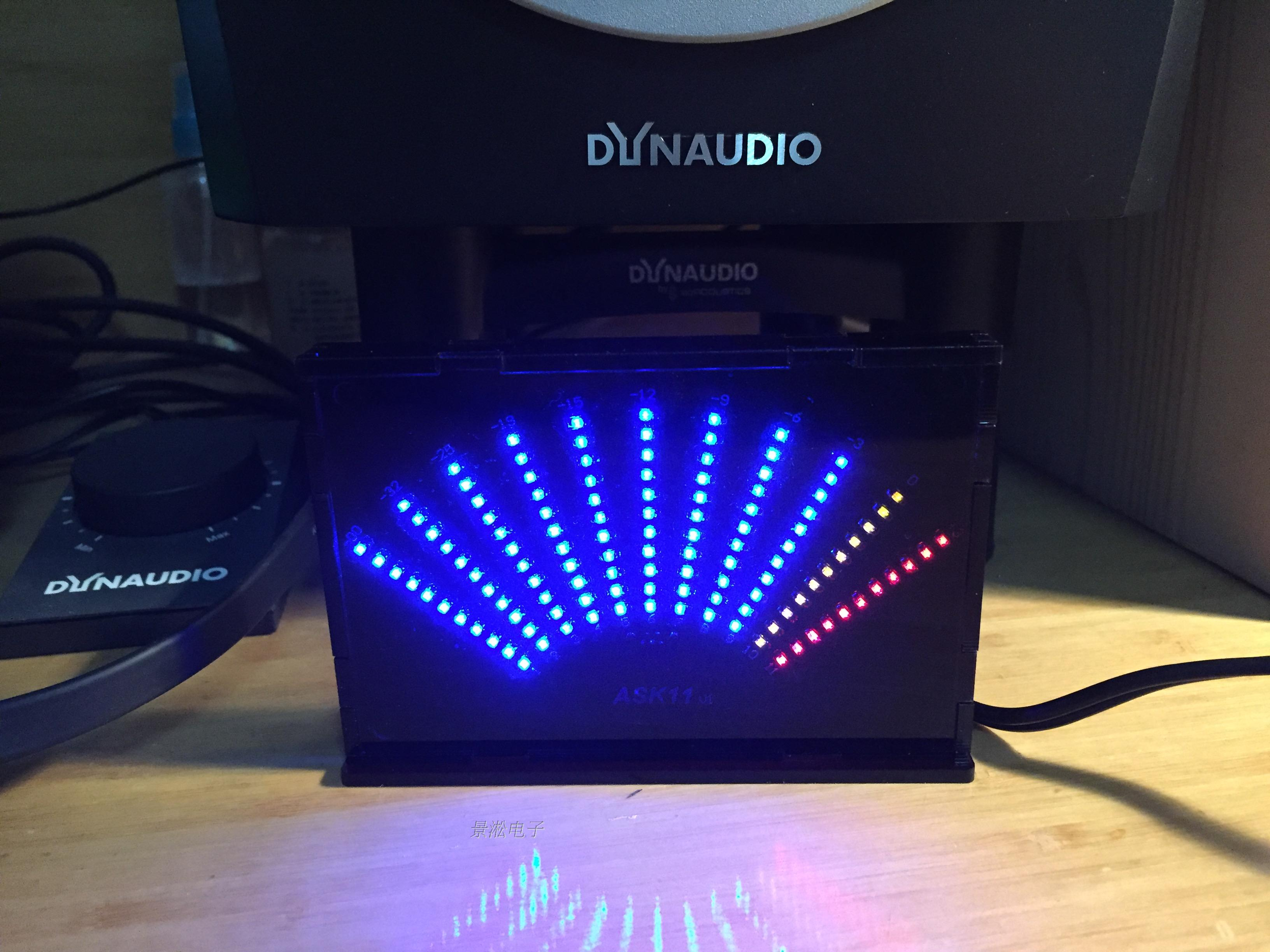 ASK11 sector pointer level indicator VU table LED music spectrum electronic DIY Kit vu table driven plate replacement level bile machine chassis before ta7318p amplifiers