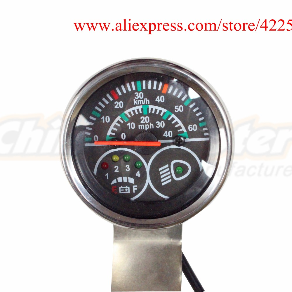 Electric Scooter Speedometer 48V Scooter Speed Indicator with ...