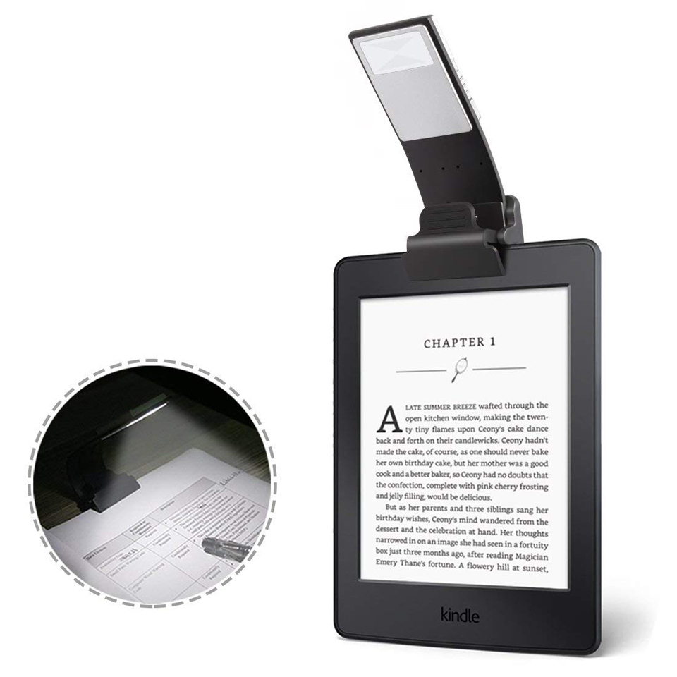 Led Reading Light Book Light Rechargeable Clip Led Lights 3Colors Dimmable USB Reading Lamp For E-read Kindle/eBook Readers
