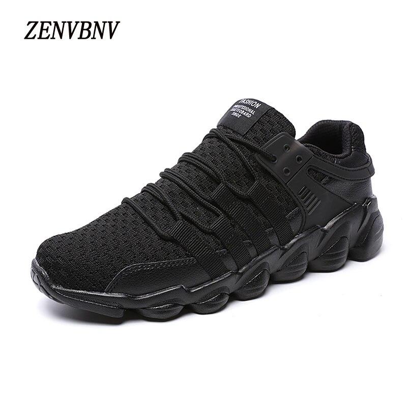 ZENVBNV Naujos mados oro mezginiai vyrų laisvalaikio avalynė - Vyriški batai