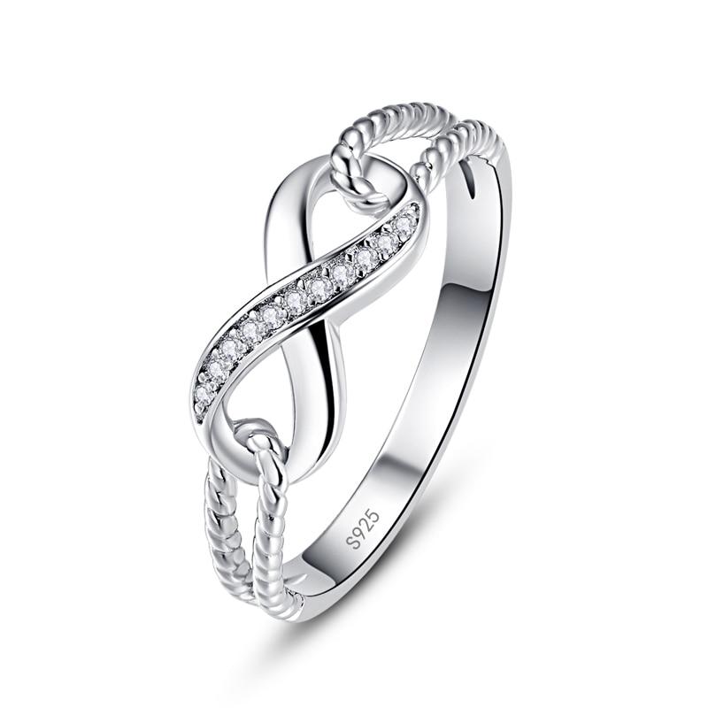Aliexpress Buy Nuncad Twisted Infinity Symbol Crystal 100 925