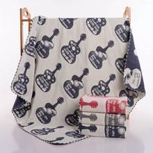 Baby Muslin Blankets Cotton Baby Gauze Bedding Swaddle Set Kids Blanket Large 4 Layers Newborn Carseat Cover Jacquard Etamine