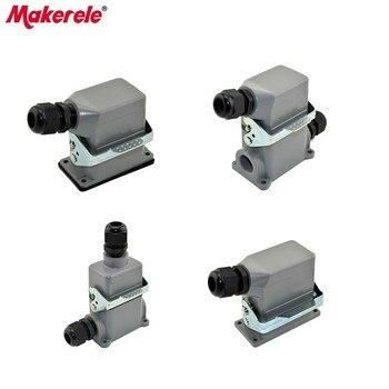 цена на Heavy Duty Connectors 10A 16A Rectangular Plugs Industrial Waterproof Aviation Plug SocketAir Socket Hot Runner Connector