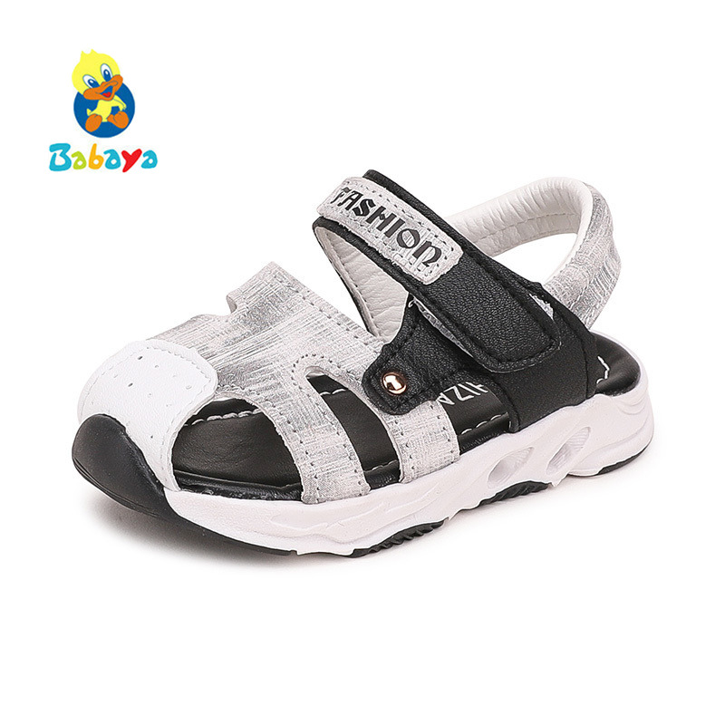 2018 Summer Baby Sandals Girls Boys Cow Leather Soft Bottom 1-2 Years Old New Fashion Baby Casual Shoes Toddler Beach Shoes mhyons 2018 new children s soft bottom toddler shoes boys and girls casual shoes garden shoes solid color breathable casual shoe