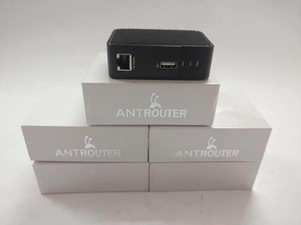 Hormiga Router R1-LTC minero 1.29MH/s y también es un 2,4g router inalámbrico tiene BM1485 chip ASIC Original bitmain para LTC minería