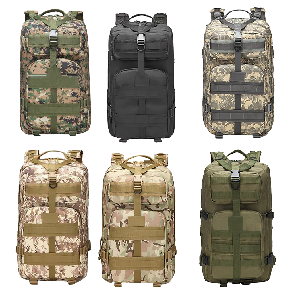 Outdoor Sports Equipment Backpack Camouflage Large Capacity Pack for Fishing Climbing Travelling Camping Hiking 45LStorage