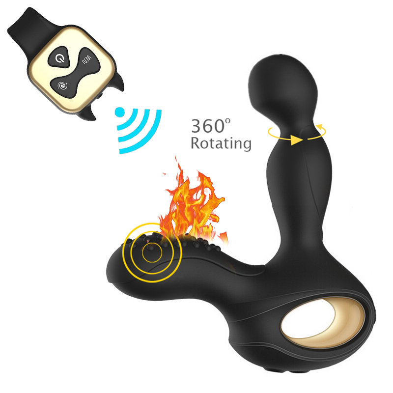 5 Rotating 10 Frequency Vibrating Heating Wireless Remote Prostate Massager G-Spot Stimulation Anal Plugs Anal Vibrator Sex Toys message to obama