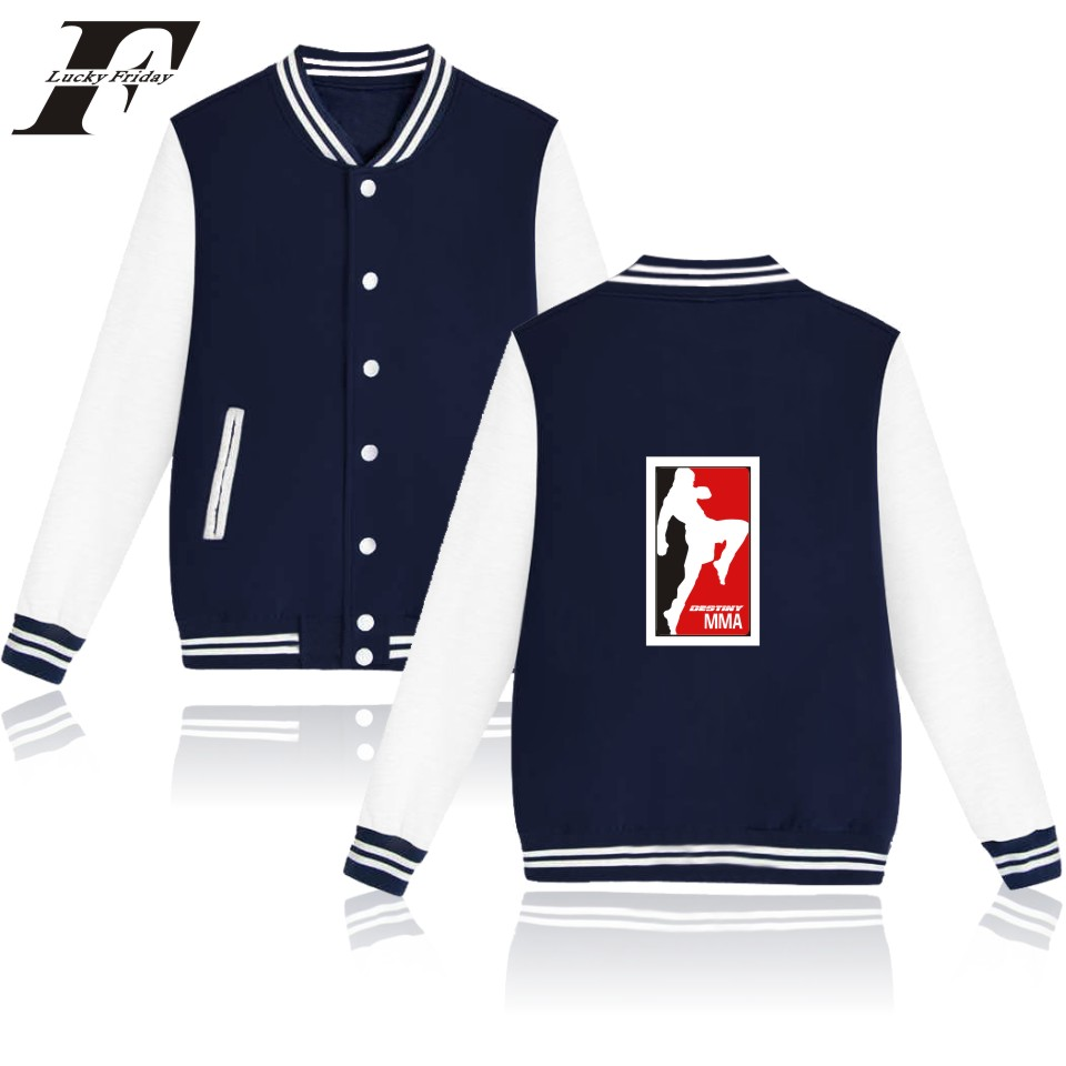 MMA Hot Sale funny Logo Baseball Hoodies Men Stresswear Clothes And Women Sweatshirt With Buttons XXS TO 4XL