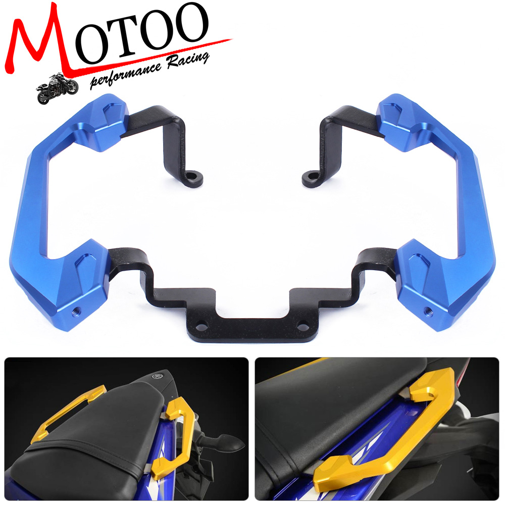 Motoo - Free Shipping  Rear Grab Bars Rear Seat of Passenger Grab Rail Handle  For Yamaha YZF R3 2013 2014 15 16 aftermarket free shipping motorcycle parts rear passenger grab bar handle rail for suzuki gsxr1300 r hayabusa 1999 2007 chromed
