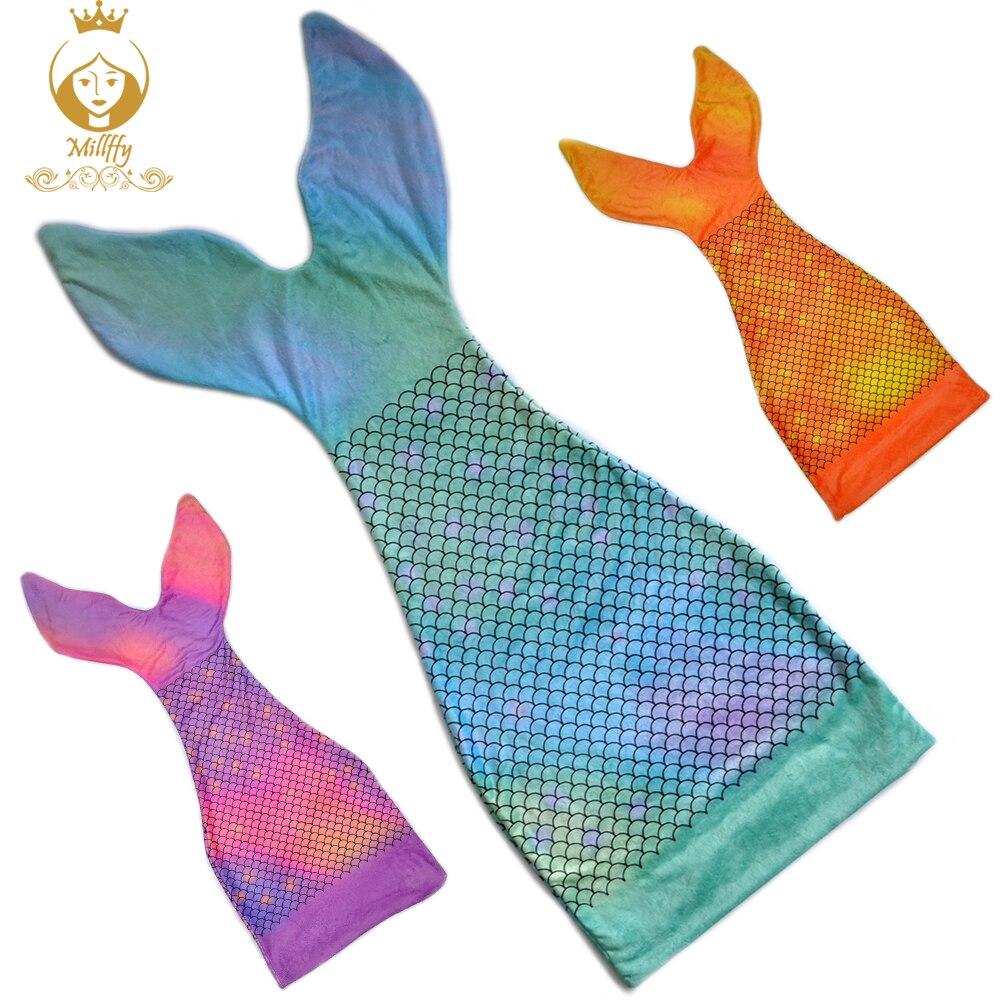 Millffy Super Soft Cozy Mermaid Tail Blanket For Kids Girls Dress Up Sleeping Bag Best Gift For Christmas