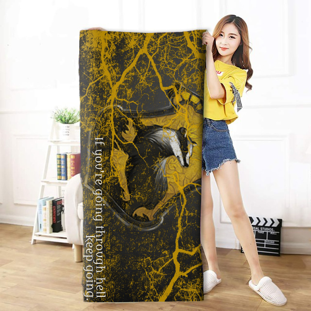 OHCOMICS 30*60cm/50*100cm/70*140cm Harri Potter HP Hufflepuff School Travel Towel Swimming Soft Soothing Cotton Face Bath Towel