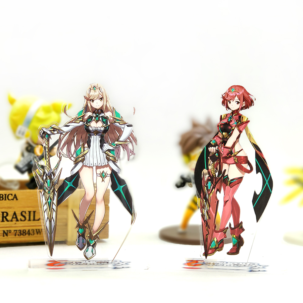 Love Thank You Xenoblade Chronicles 2 Mythra Hikari Pyra Homura Acrylic Stand Figure Model Double-side Plate Holder Topper Game