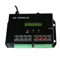 led 8 ports programmable controller,full color,drive 8192 pixels,support DMX512 console,support dozens of led chips,PC software