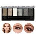 Nova Chegada 6 Cores Glamorous Smokey Sombra de Olho Brilho Paleta Da Sombra de Maquiagem Cosméticos