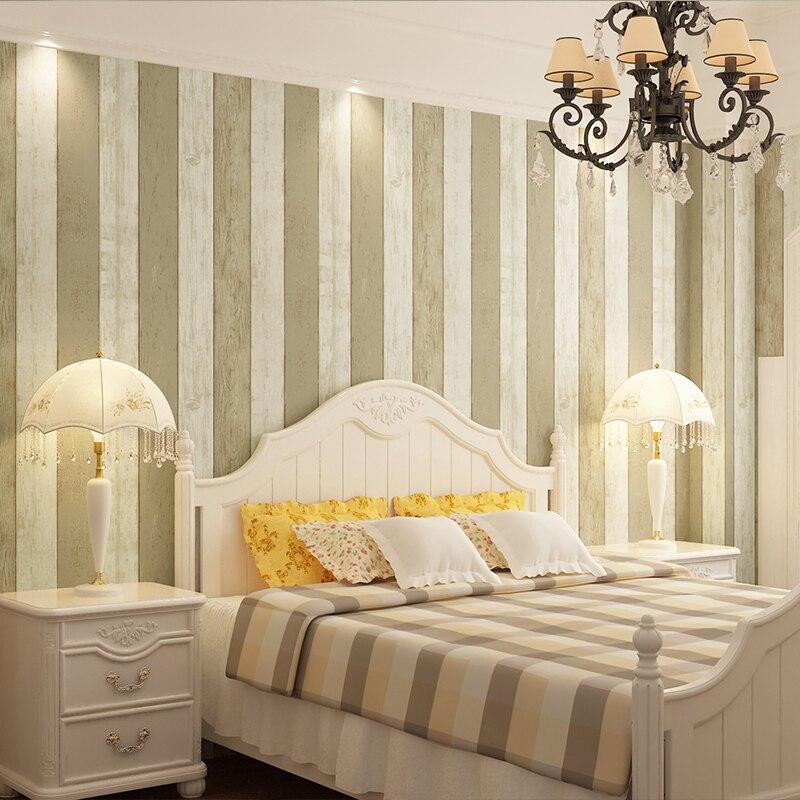 beibehang azul de rayas verticales de pvc panel de madera de vinilo papel de parede d