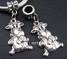 Antique Silver Vintage Charms Milch Cow Pendants For Jewelry Making Findings Bracelets Handmade Accessories DIY Gift 10pcs Z171
