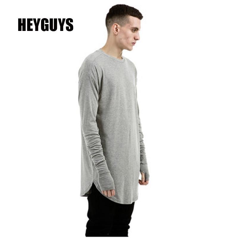 Buy heyguys original 2016 men 39 s solid for Long t shirt trend