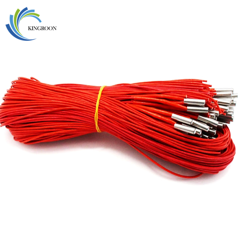 KINGROON 1PC 12V 40W Ceramic Cartridge Heater 6mm*20mm For Extruder 3D Printers Parts