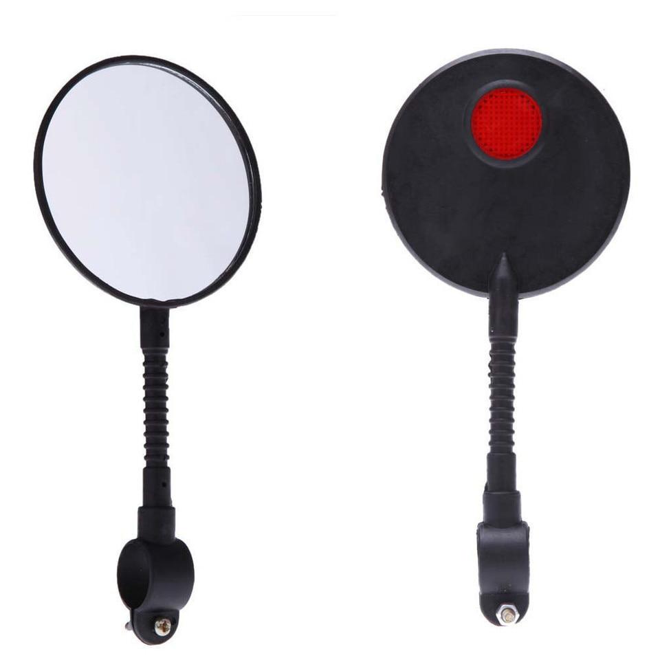 NE/_  Bike Bicycle Handlebar Flexible Rear Back View Rearview Mirror Black