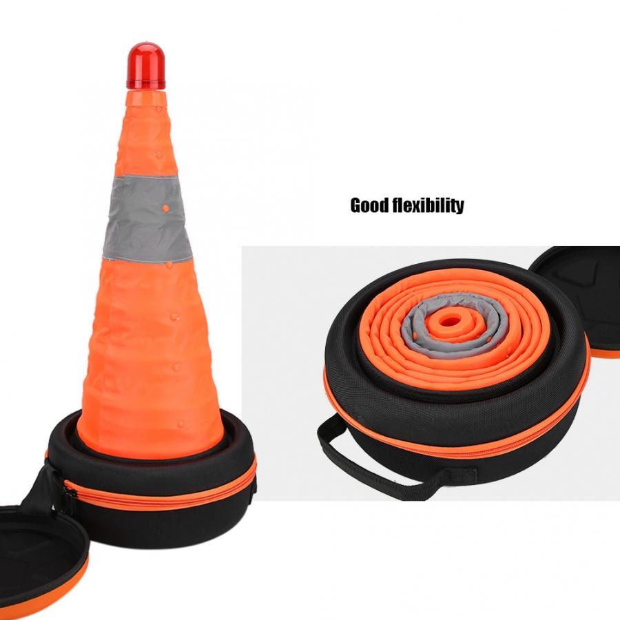 Safety Emergency Square Traffic Warning Plastic Reflective Road Cone Tool Kit Traffic Cone Collapsible Durable New