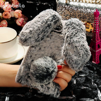 AKABEILA Rabbit Hair Silicone Cases For ASUS ZC550TL Case Covers Soft TPU For ASUS ZENFONE4 MAX