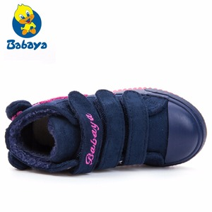 Image 5 - Botas de goma para niña, botas para nieve para chico y niño pequeño, zapatos cálidos para niño, plataforma aterciopelada de felpa, zapatilla plana